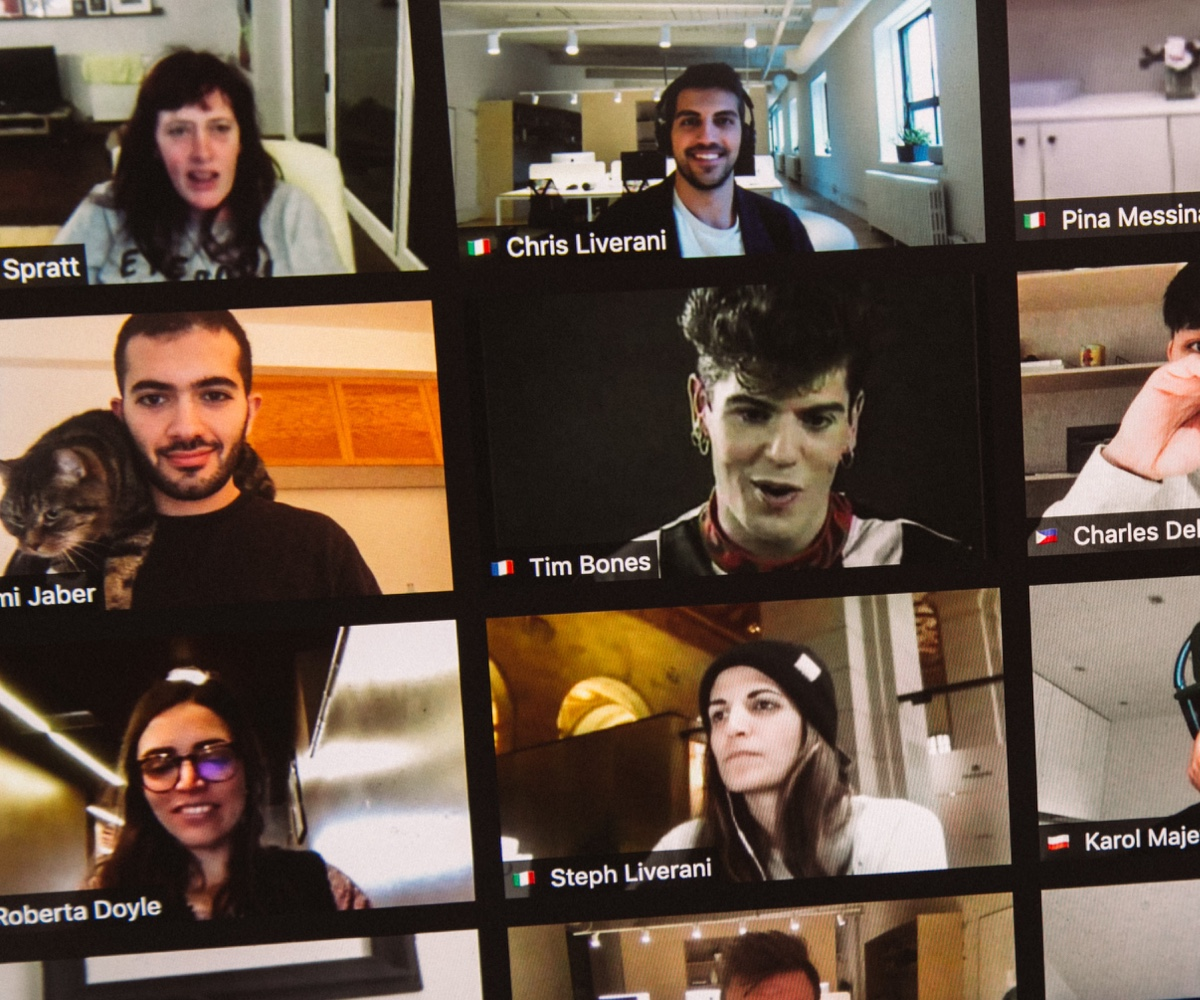 Crowd of people on a Zoom call